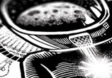 Detail Space woman pen drawing by Sneaky Studios