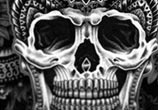 Mandala skull drawing by Sneaky Studios