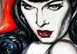 Bettie Page painting by Surbina Psychobilla
