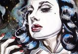Burlesque queen painting by Surbina Psychobilla