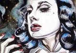 Burlesque queen painting by Surbina Psychobilla