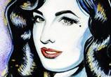 Dita Ven Teese painting by Surbina Psychobilla