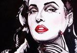 Dita Von Teese painting by Surbina Psychobilla