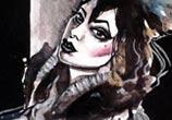 Fetish queen painting by Surbina Psychobilla