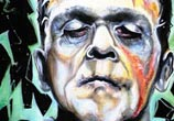 Frankenstein oil painting by Surbina Psychobilla
