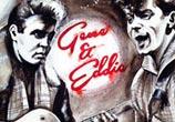 Gene & Eddie painting by Surbina Psychobilla