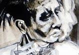 Marilyn Manson painting by Surbina Psychobilla