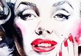 Marilyn Monroe painting by Surbina Psychobilla