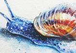 Slug acryl painting by Tanya Shatseva