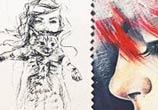 Thank You sketch drawing by Tanya Shatseva