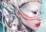 Yolandi The Rat Mistress detail painting by Tanya Shatseva