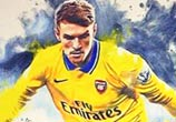 Aaron Ramsey color drawing by The Illestrator
