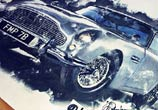 Aston Martin DB5 color drawing by The Illestrator