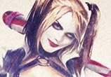 Harley Quinn color drawing by The Illestrator
