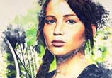 Katniss Everdeen color drawing by The Illestrator