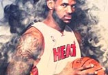 Lebron James color drawing by The Illestrator