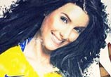 Ludivine Sagna color drawing by The Illestrator