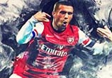 Lukas Podolski color drawing by The Illestrator
