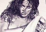 Rihanna sketch drawing by The Illestrator