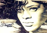 Rihanna portrait sketch by The Illestrator