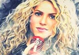 Shakira color sketch drawing by The Illestrator