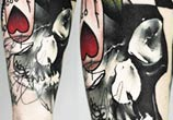 Abstract skull tattoo by Timur Lysenko