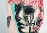 Face tattoo by Timur Lysenko