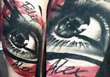 Filip Alex eye tattoo by Timur Lysenko