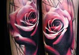Geometrical rose tattoo by Timur Lysenko