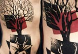 Insect with tree tattoo by Timur Lysenko