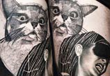 Katty cat tattoo by Timur Lysenko