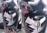 Lost face tattoo by Timur Lysenko