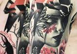 Trash Sleeve tattoo by Timur Lysenko