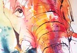 Elephant watercolor painting by Tori Ratcliffe Art