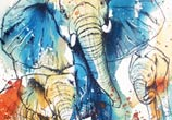 Elephant Family by Tori Ratcliffe Art