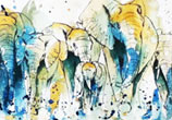Elephants by Tori Ratcliffe Art