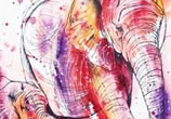 Pink Elephant by Tori Ratcliffe Art