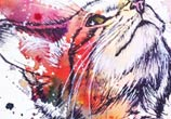 Scottish Wildcat kitten by Tori Ratcliffe Art