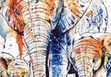 Three elephants by Tori Ratcliffe Art