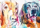 Two Dogs by Tori Ratcliffe Art