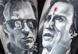 Collaboration work tattoo by Valentina Ryabova