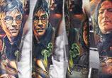Harry Potter sleeve tattoo by Valentina Ryabova