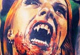 Horror Vampire tattoo by Valentina Ryabova