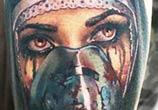 Horror woman.mask tattoo by Valentina Ryabova