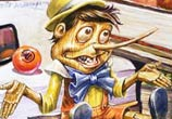 Pinocchio painting by Wild Drawing