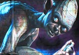 Smeagol streetart by Wild Drawing