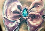 bow knot with Diamond tattoo by Zsofia Belteczky