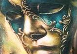 Green Mask tattoo by Zsofia Belteczky