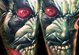 Horror Joker tattoo by Zsofia Belteczky