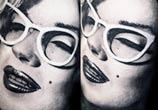 Marilyn Monroe portrait tattoo by Zsofia Belteczky